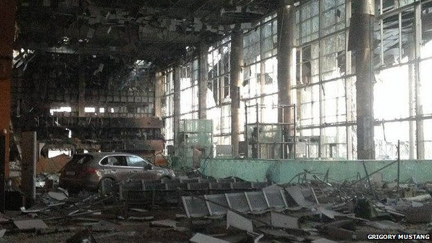 Car in destroyed terminal