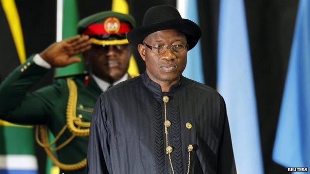 Nigerian President Goodluck Jonathan (October 2014)