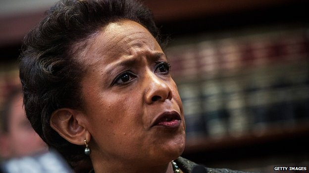 Loretta Lynch, US attorney for the eastern district of New York. 28 April 2014