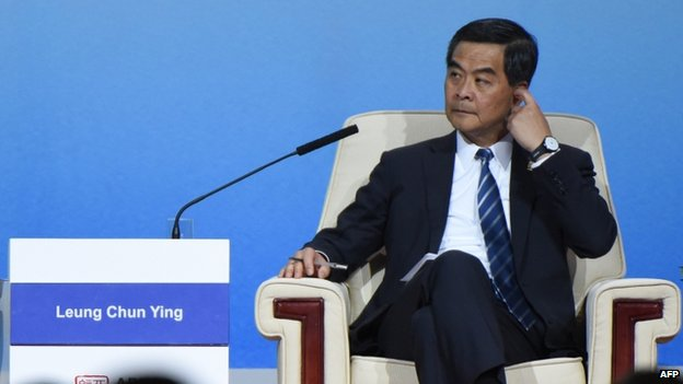 Hong Kong Chief Executive CY Leung at the APEC CEO Summit at the China National Convention Centre (CNCC) in Beijing (9 November 2014)