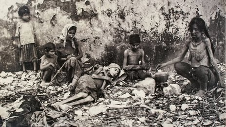 Starving people from the famine of Mount Lebanon