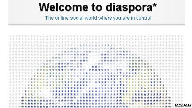 Screengrab from Diaspora website
