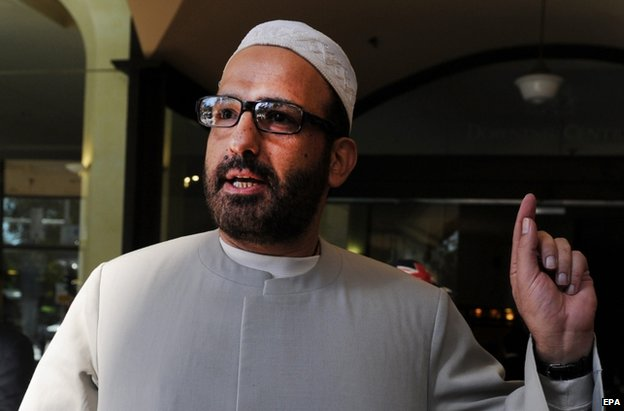 Man Haron Monis after a court appearance in Sydney, 18 April 2011