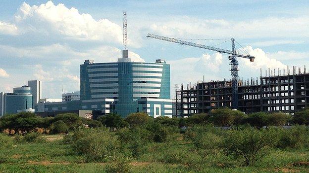 Contruction work in Gaborone