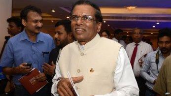 Mr Rajapakse's main rival, Maithripala Sirisena