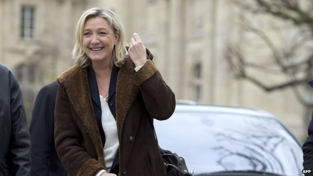 France's far-right National Front party leader Marine Le Pen (22 December 2014)