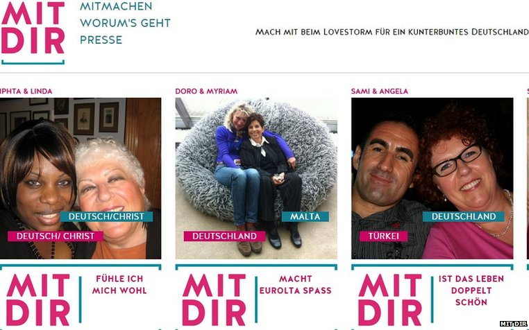 German social media campaign Mit Dir picture wall