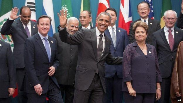David Cameron and Barack Obama at the G20