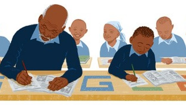 Google image of Kimani Maruge in class