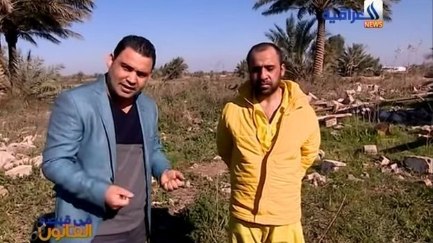 Presenter of In the Grip of the Law, Abu Jassem, with convicted militant