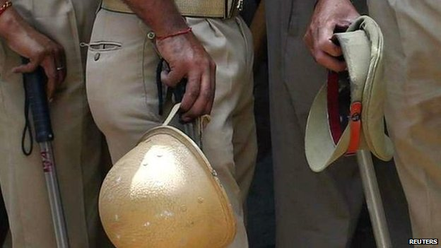 India policemen file photo