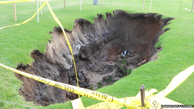 Sinkhole on Traigh Golf Course