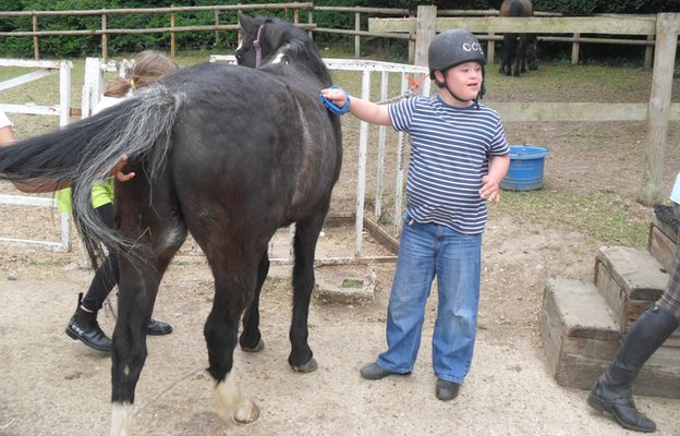 Stan at the horse stables