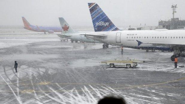 LaGuardia Airport in New York City, 26 January 2015