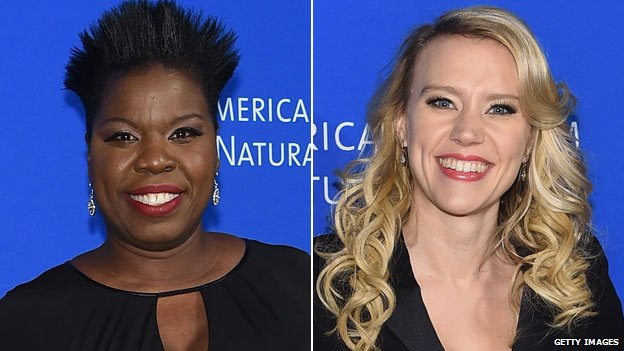 Leslie Jones and Kate McKinnon
