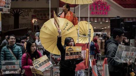Hong Kong pro-democracy protesters return to streets - BBC ...