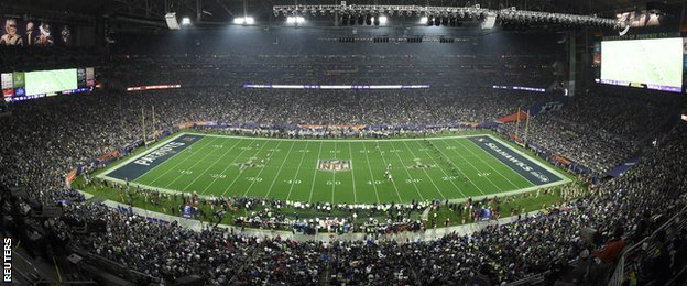 The Super Bowl was played at the 72,000 capacity University of Phoenix Stadium