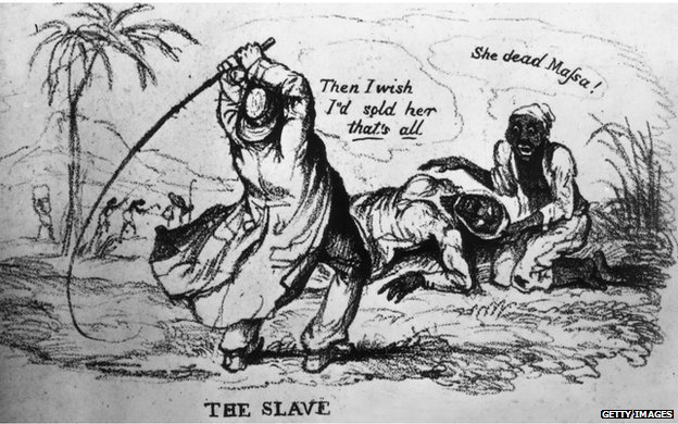1830: A slaveowner whipping a slave to death