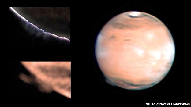 Mars plume