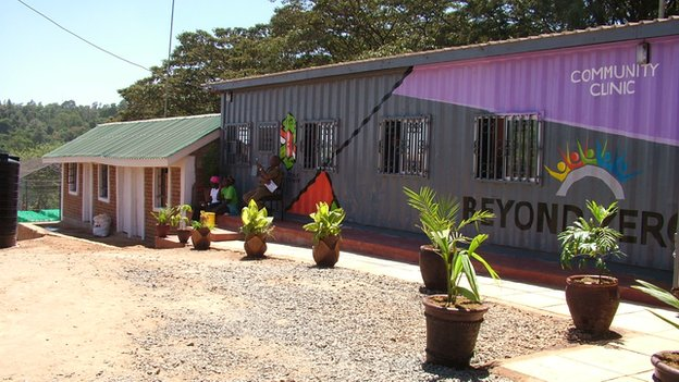 A newly built clinic in Kibera, Kenya