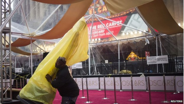 Red carpet at the Oscars