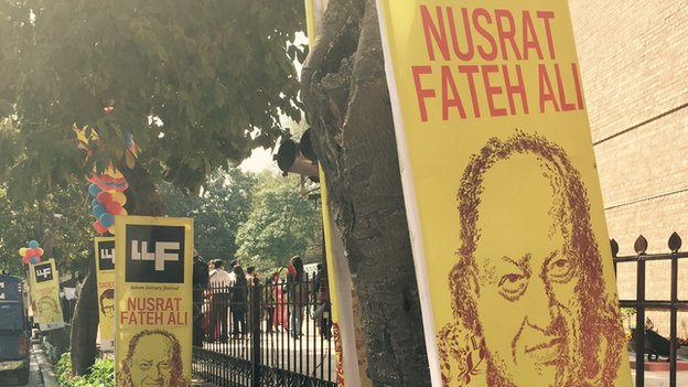 Sign at Lahore Literary Festival