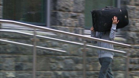 Garrett Moon arriving at Guernsey's Royal Court