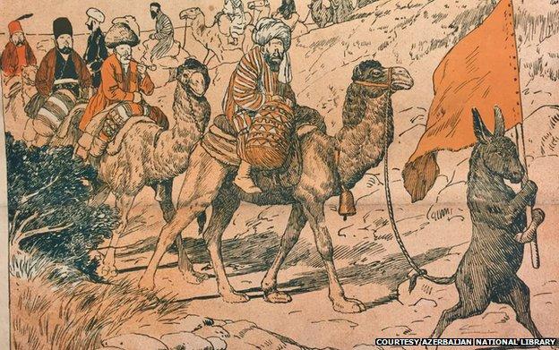"This cartoon from 1909 had a pretty short explanation: ""Pilgrimage to Hajj""."