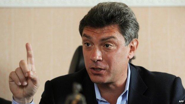 Boris Nemtsov in Moscow, 6 April 2009