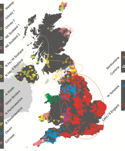 BBC's genetic map of the UK