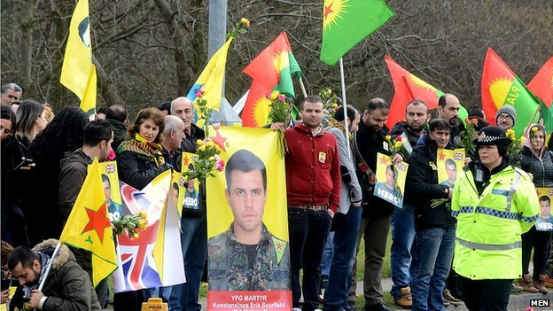 Kurds welcome dead marine
