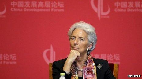 Christine Lagarde in China