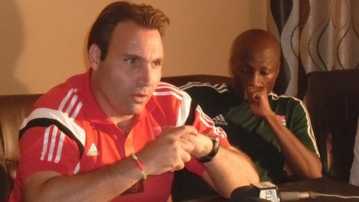 The Gambia coach Raoul Savoy