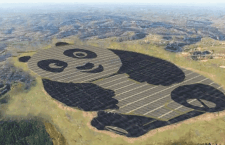 China just built a 250-acre solar farm shaped like a giant panda