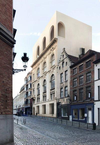 De nu krap opgedeelde ruimtes zullen geherstructureerd worden over 6 verdiepingen
