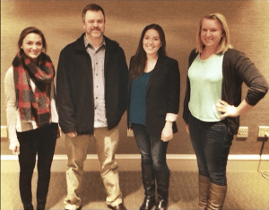 Bear House Writer Management members with Warner/Chappell EVP, Ben Vaughn, at a meeting this past November.
