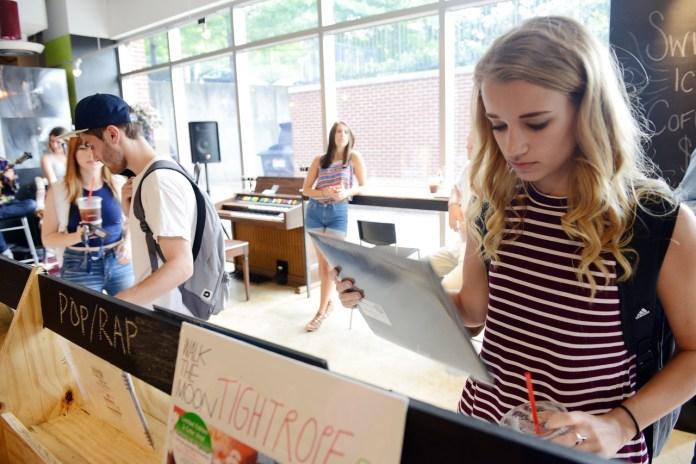 The Boulevard Record Shop opens at Belmont University in Nashville, Tenn. August 26, 2016