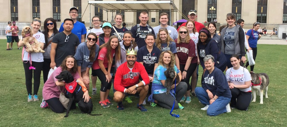 College of Pharmacy team that participated in AIDS Walk 2016