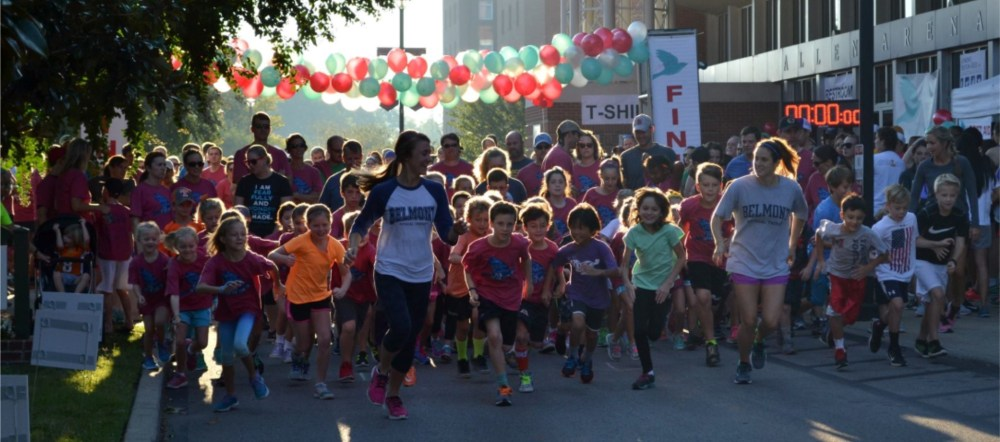 The runners begin their race at the Sarah Walker 5K!