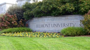 The entrance to Belmont's campus on Wedgewood Ave.
