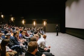 The audience for the Martin Guitars documentary screening on January 23
