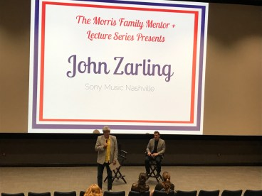 John Zarling speaks to students on Belmont's campus