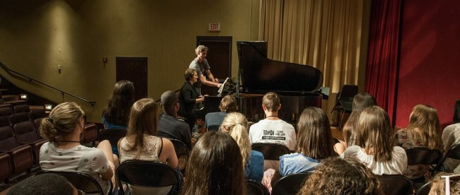Students perform at summer music camp in Massey Performing Arts Center at Belmont