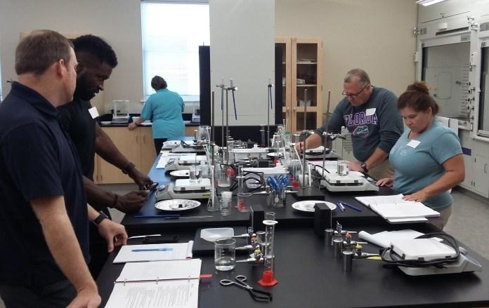 Local educators participate in a workshop at Belmont University