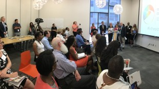 Participants listen to a session at the Trailblazer Coalition Event