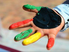 Interactive Diversity Art Project for Diversity week at Belmont University in Nashville, Tenn. October 26, 2016.