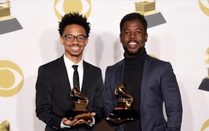 Dwan Hill and Alvin Love III at the GRAMMYs 2018