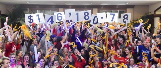 Up 'Til Dawn raise $146,180.78 for St. Jude's at Belmont University Nashville, Tennessee, February 10, 2018.