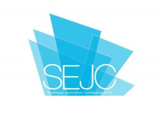 """SEJC"" logo for the Southeast Journalism Conference"