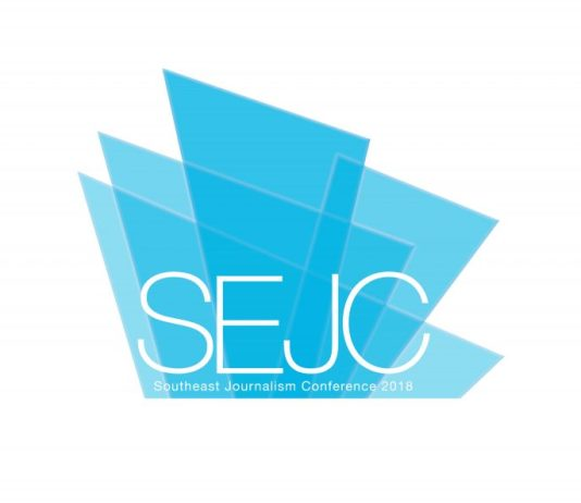 """""""SEJC"""" logo for the Southeast Journalism Conference"""